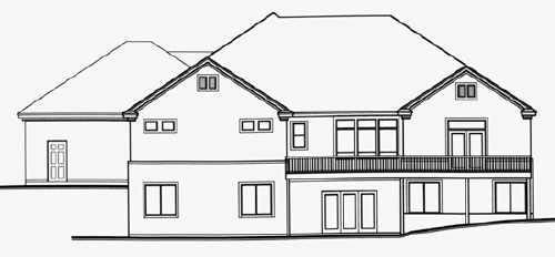 Traditional House Plan 70516 Rear Elevation