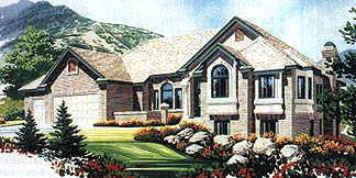 Traditional House Plan 70517 with 3 Beds, 3 Baths, 2 Car Garage Elevation