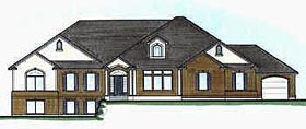 Traditional House Plan 70518 with 4 Beds, 5 Baths, 3 Car Garage Elevation