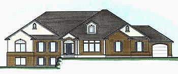 Traditional House Plan 70518 Elevation
