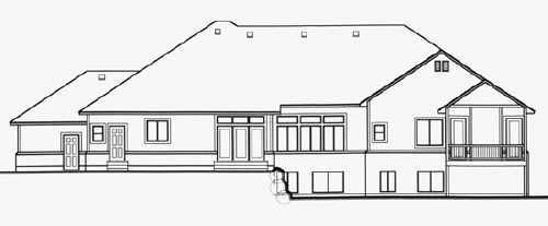 Traditional House Plan 70518 Rear Elevation