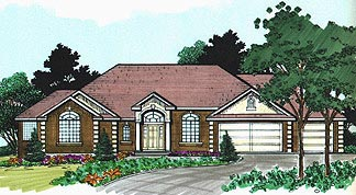 Traditional House Plan 70519 Elevation