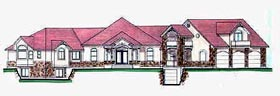 Plan Number 70523 - 3913 Square Feet