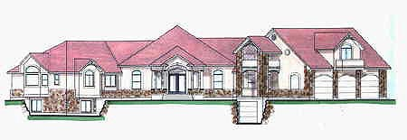Traditional House Plan 70523 with 4 Beds , 4 Baths , 3 Car Garage Elevation