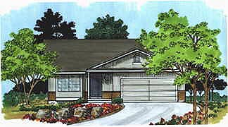 Traditional House Plan 70529 with 3 Beds, 2 Baths, 2 Car Garage Elevation