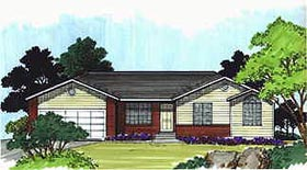 Plan Number 70530 - 1245 Square Feet