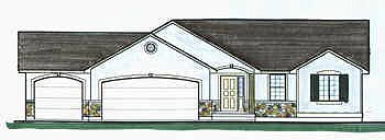 Traditional House Plan 70531 with 4 Beds, 3 Baths, 3 Car Garage Elevation
