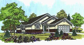Traditional House Plan 70532 with 3 Beds, 2 Baths, 2 Car Garage Elevation