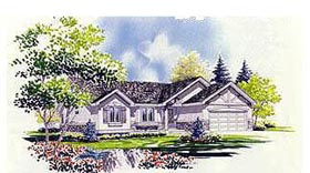 Traditional House Plan 70533 with 2 Beds, 2 Baths, 2 Car Garage Elevation