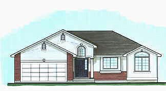 Traditional House Plan 70535 with 3 Beds, 2 Baths, 2 Car Garage Elevation