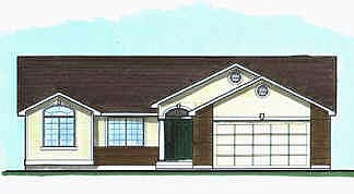 Traditional House Plan 70537 with 2 Beds, 2 Baths, 2 Car Garage Elevation