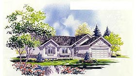 Plan Number 70538 - 1496 Square Feet