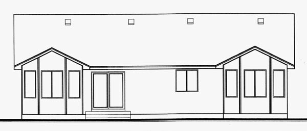 Traditional House Plan 70538 Rear Elevation