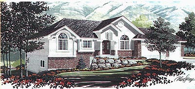 Colonial House Plan 70543 Elevation