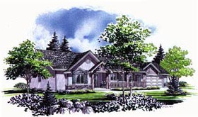 Traditional House Plan 70544 Elevation
