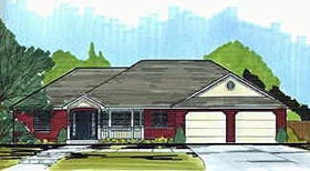 Traditional House Plan 70548 Elevation