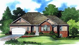 Traditional House Plan 70550 with 4 Beds, 4 Baths, 2 Car Garage Elevation