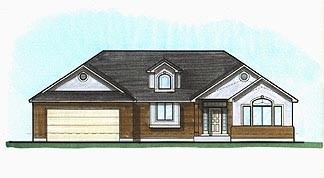 House Plan 70554 | Traditional Style Plan with 1875 Sq Ft, 2 Bedrooms, 2 Bathrooms, 2 Car Garage Elevation