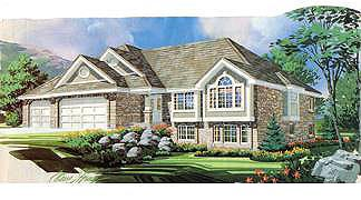 Traditional House Plan 70555 with 2 Beds, 3 Baths, 3 Car Garage Elevation