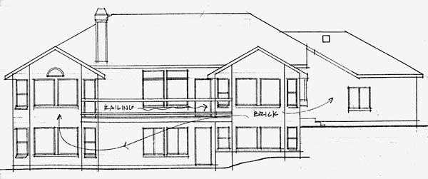Traditional House Plan 70557 Rear Elevation