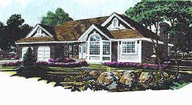 Traditional House Plan 70562 with 3 Beds, 2 Baths, 2 Car Garage Elevation