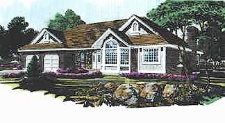 Traditional , Elevation of Plan 70562