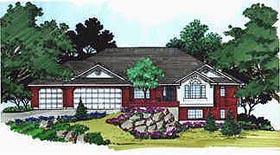 House Plan 70566 | Traditional Style House Plan with 2270 Sq Ft, 2 Bed, 3 Bath, 3 Car Garage Elevation