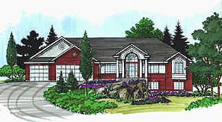 Colonial House Plan 70567 with 3 Beds, 3 Baths, 3 Car Garage Elevation