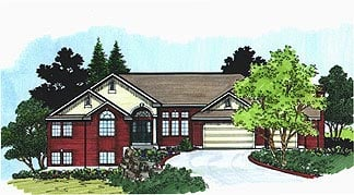 Traditional House Plan 70568 Elevation