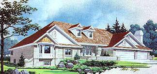 Traditional House Plan 70569 Elevation