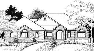 Traditional House Plan 70571 Elevation