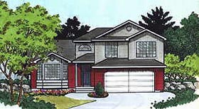 Traditional House Plan 70575 Elevation