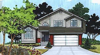 House Plan 70577 | Traditional Style House Plan with 1469 Sq Ft, 3 Bed, 3 Bath, 2 Car Garage Elevation
