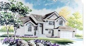 House Plan 70580 | Traditional Style Plan with 1666 Sq Ft, 3 Bedrooms, 3 Bathrooms, 2 Car Garage Elevation