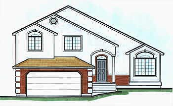 Contemporary House Plan 70581 Elevation