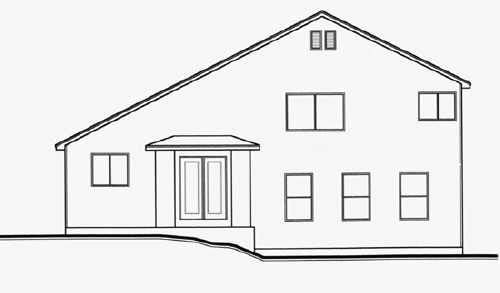 Contemporary House Plan 70581 Rear Elevation