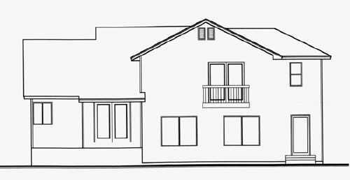 Traditional House Plan 70584 Rear Elevation