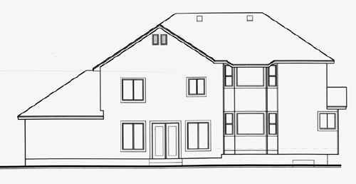 Traditional House Plan 70585 Rear Elevation