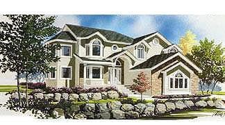 Contemporary House Plan 70586 with 4 Beds, 3 Baths, 3 Car Garage Elevation