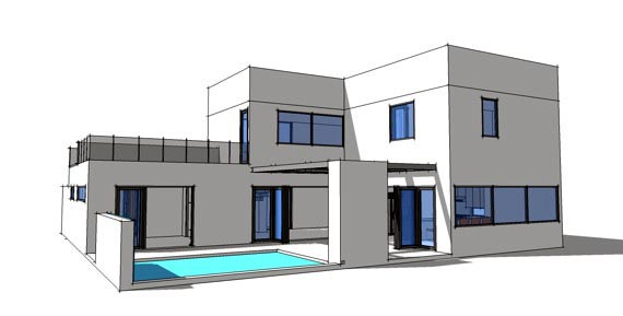 Contemporary, Modern House Plan 70801 with 3 Beds, 3 Baths, 2 Car Garage Rear Elevation