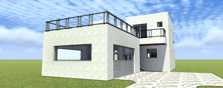Florida, Modern House Plan 70805 with 2 Beds, 3 Baths, 2 Car Garage Elevation