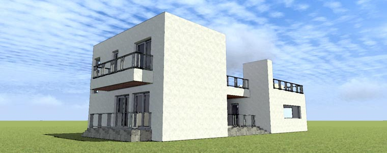 Florida Modern House Plan 70805