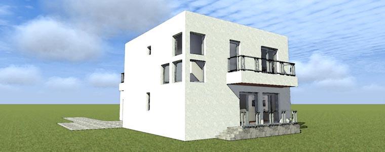Florida, Modern House Plan 70805 with 2 Beds, 3 Baths, 2 Car Garage Rear Elevation