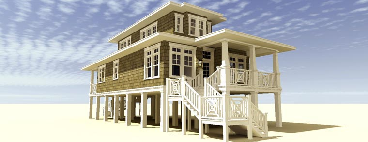 Coastal, Craftsman House Plan 70806 with 3 Beds, 2 Baths Picture 11