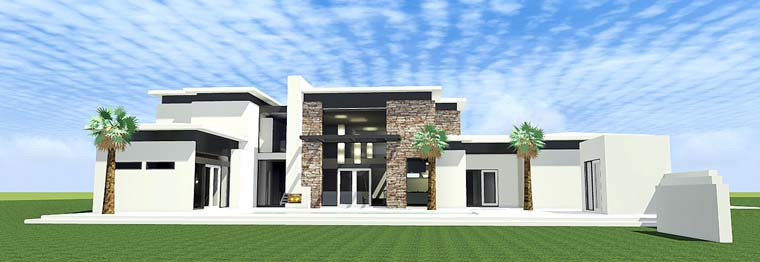 Modern House Plan 70807 Elevation