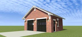 2 Car Garage Plan 70812 Elevation