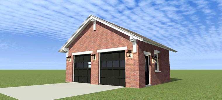 Garage Plan 70812 | Style Plan, 2 Car Garage Elevation