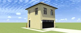 2 Car Garage Apartment Plan 70813 with 2 Beds, 1 Baths Elevation