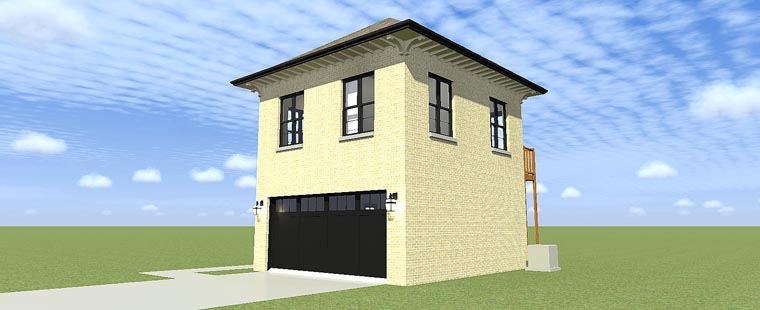2 Car Garage Apartment Plan 70813 with 2 Beds, 1 Baths