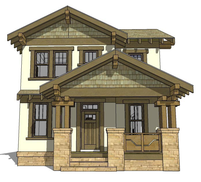 House Plan 70815 | Craftsman Style Plan with 2080 Sq Ft, 3 Bedrooms, 3 Bathrooms, 2 Car Garage Elevation